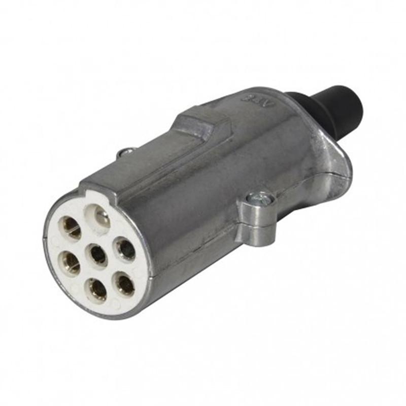 24V 7 pin plug S type, metal