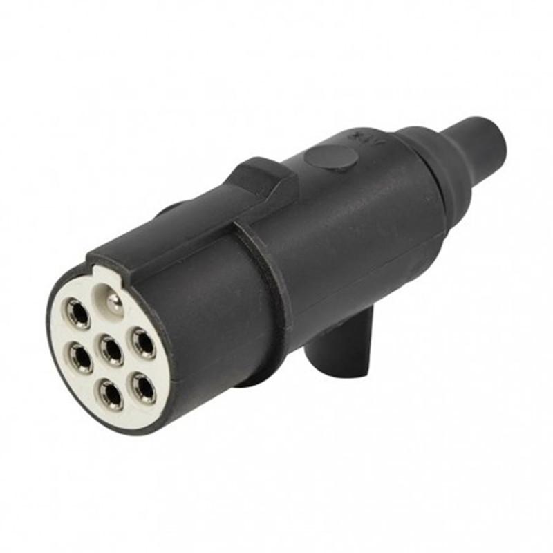 24V 7 pin plug S type, plastic