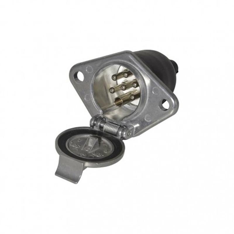 24V 7 pin socket S type, metal.