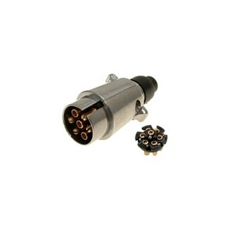 12Volt 7 pin plug, metal
