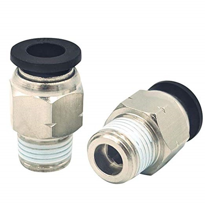 Push to Connect Fitting 1/2 Tube OD x 3/8 NPT Male Thread
